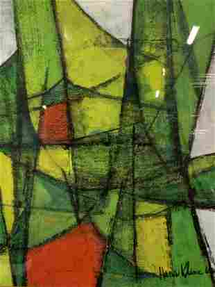 HANS KLINE Signed Abstract Oil on Board