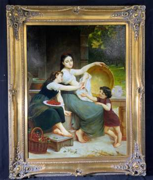 P CARRIER Signed Oil Painting Artwork
