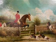 JACK SMITH Signed Oil Painting, Hunting Scene