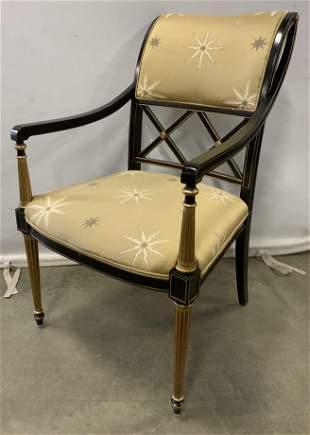 HENREDON Upholstered Regency Style Arm Chair