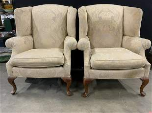 Pair THOMASVILLE Wingback Chairs