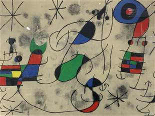 JOAN MIRO Signed Abstract Lithograph Artwork