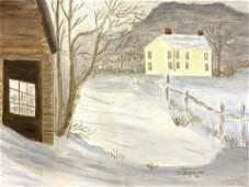 JC BOQOSSIAN Signed Framed Vintage Winter Painting