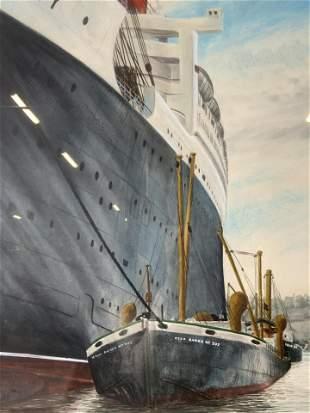 JOHN WEDDA Signed Watercolor Painting