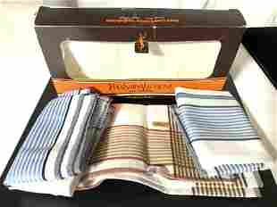 Never Used Box of 3 YSL MEN�s Cotton Handkerchiefs