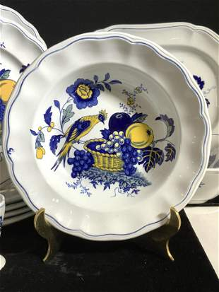 COPELAND Spode Blue Bird Partial Dinnerware Set 20