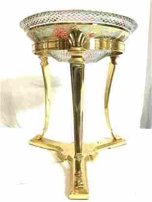 DECORATIVE CRAFTS INC Pedestaled Crystal Bowl