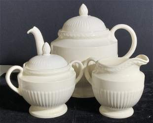3 Piece WEDGWOOD EDME Ceramic Tea Service