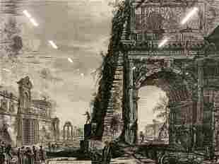 Antique Grand Scaled PIRANESI Etching, Artwork