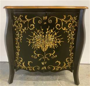 Hand Painted Wooden Asian Style Cabinet