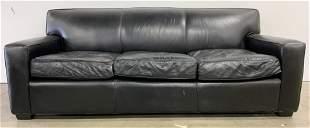 MITCHELL GOLD & BOB WILLIAMS Leather Sofa