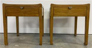 Pair MARIA YEE Wooden End Tables