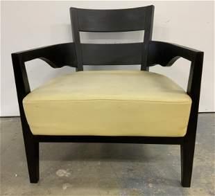 Vintage Club Chair w Leather Cushion