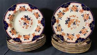 Set 15 Vintage SPODE Imari Patterned Dinnerware