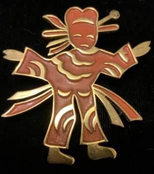 Trifari Kachina Doll Vintage Jewelry