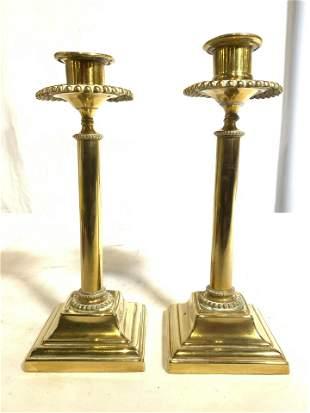 Vintage Pair Fine Brass Candlesticks