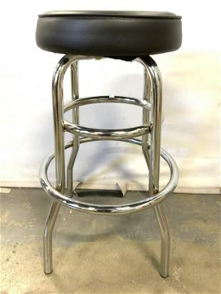 Leather Seat Upholstered Bar Stool