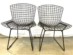 Pair KNOLL BERTOIA Metal Chairs