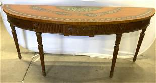 MAITLAND SMITH Wooden Demilune Console Table