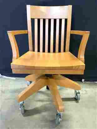 Wooden Computer Office Chair