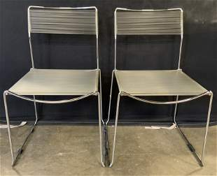 Set 4 Vintage Stacking Spaghetti Chairs