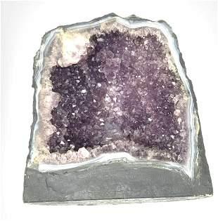 Amethyst Crystal Cluster Geode,