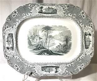 Antique JWP & Co Staffordshire Transferware Plate
