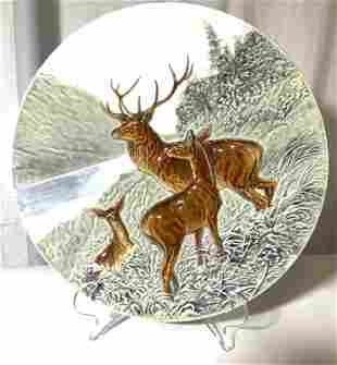 Oversized STAG Wall Plate, signed SCHUTZ BLANKSO