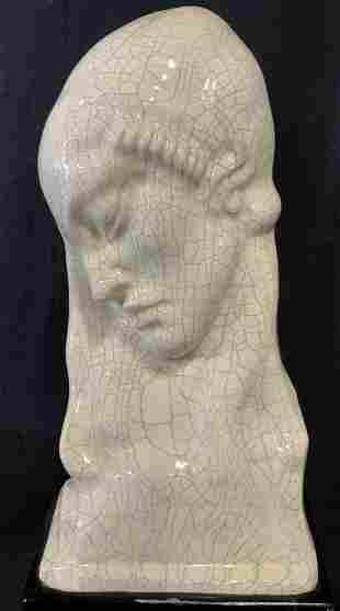 Art Deco Glazed Ceramic Sculpture