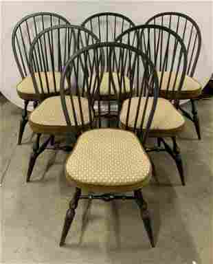 Set 6 Antique Windsor Style Dining Chairs