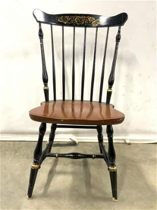 Vintage L HITCHCOCK Wooden Spindle Back Chair