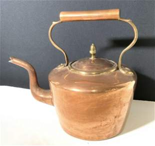Collectible Vintage Copper Tea Kettle