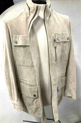 HUGO BOSS SUEDE Jacket, Men's Plus Size