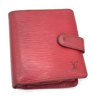 Vintage Lux LOUIS VUITTON Red Epi Bifold Wallet