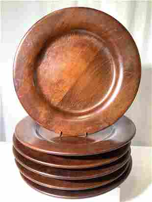 Ralph Lauren Wood Charger Plate Set 6, Italy