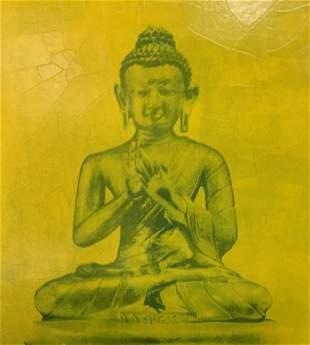 Offset Lithograph Buddha Statues, Artwork