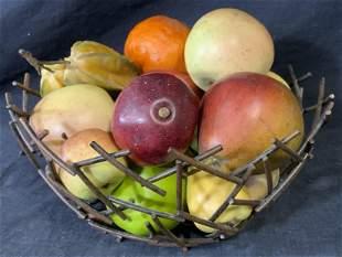 Decorative Metal Fruit Basket