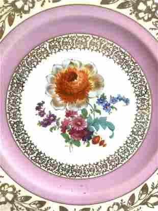 BAVARIA Floral Detailed Decorative Plate