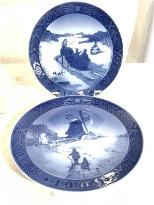 Pair ROYAL COPPENHAGEN KAI LANGE Porcelain Plate