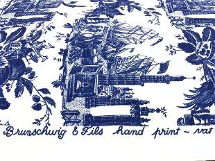 BRUNSCHWIG & FILS Hand Printed Fabric