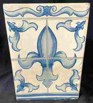 Hand Painted CLAY ART Paper Mache Basket