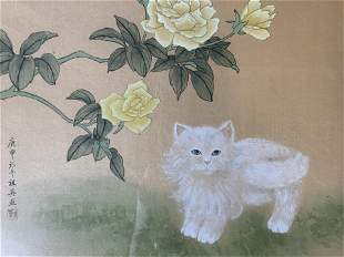Chinese Ink Painting of Kitten