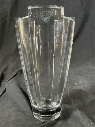 ORREFORS Cut Crystal Swedish Glass Vase