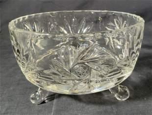 Footed Cut Crystal Bowl