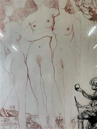 SALVADOR DALI Judgement of Paris Offset Lithograph