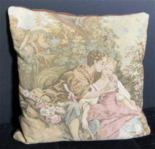 Vintage Needlepoint Throw Pillow