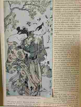 Matted French Article of Japanese Art