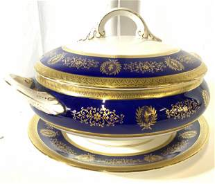 Trademarked COALPORT Porcelain Serving Dish, 3 pc