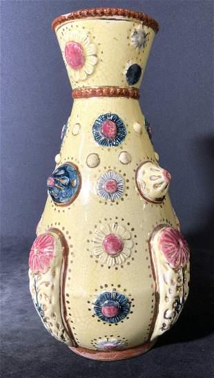 Vintage POMPEY Signed Embossed Ceramic Vase