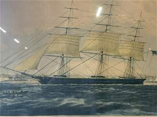 Clipper Ship �Nightingale� Lithograph, Artwork
